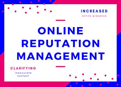 Improve your Online Reputation