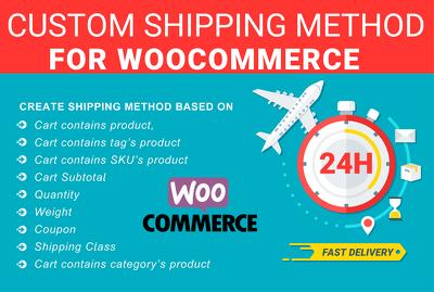Setup any woocommerce shipping method