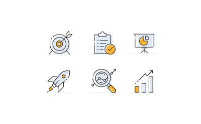 Design custom icon set(6 icons)+all source files.