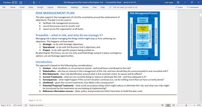 develop your risk management plan