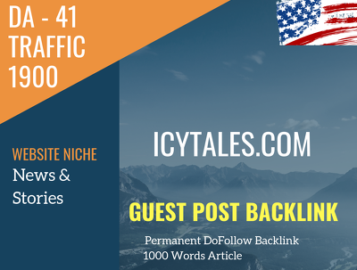 USA News & Stories Related 1900 Traffic 41 DA Guest post link