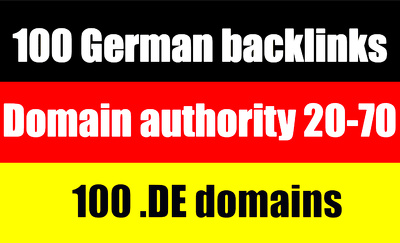Provide100 High Authority German Backlinks De Domains