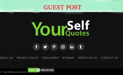 Guest Post on 'Yourselfquotes' Yourselfquotes.com DA 80 PA 75