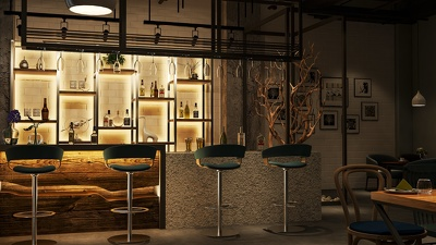 Design your cafe by delivering you 3D photorealistic renderings.