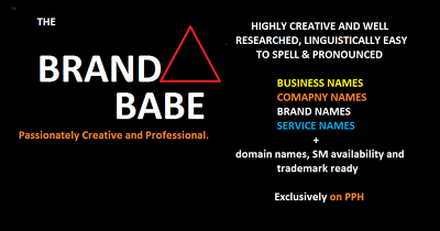 Name Your Brand, Product Or Business With Domain Name & Tagline