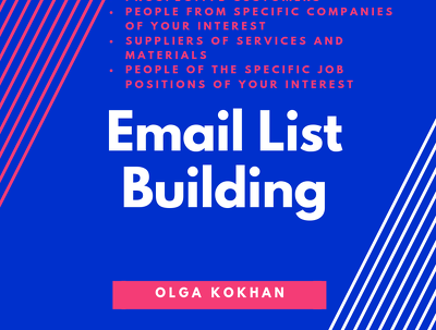 1 Hour of Email List Building Services