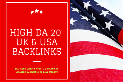 Provide 10 USA And 10 UK SEO Backlinks For Your Website
