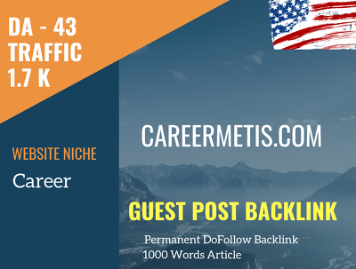 USA Career Related 1700 Traffic 43 DA Guest post link