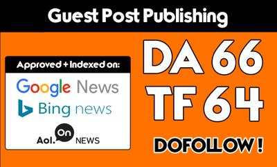Premium  Guest post on FutureScope  DA 66 [Limited Offer]