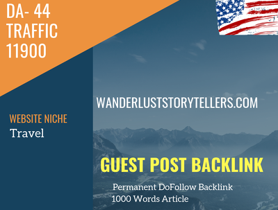 USA Travel Related 11900 Traffic 44 DA Guest post link