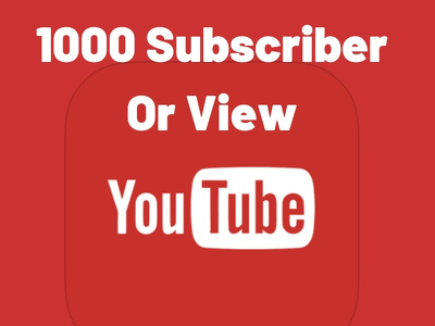 Professionally Provide 1k Youtube Nondrop Subscribers or views