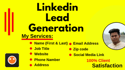 Do 200 Linkedin Lead Generation And Prospect List Building
