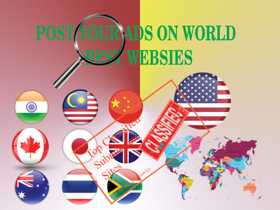 Post your business or product in 40 to 1500 classified website