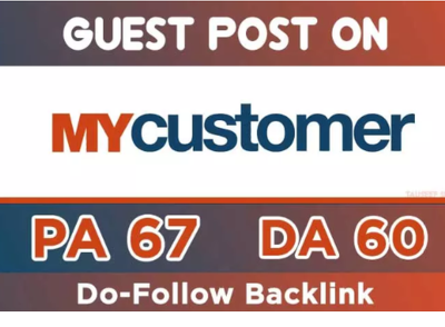 Publish a guest post on MyCustomer - MyCustomer.com