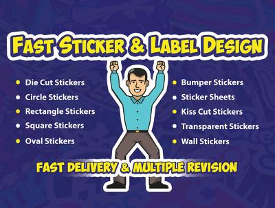 Do Custom 1 Sticker Design In 1 Hour