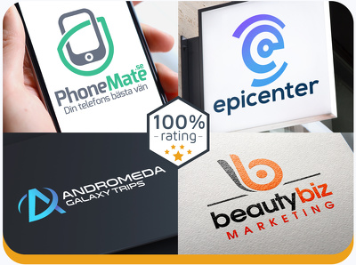Unique and modern logo for your business +unlimited revisions.