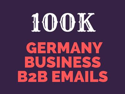 Provide 100k Germany Business Email Database
