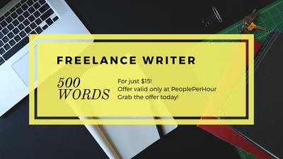 Write blog post of 450-500 words