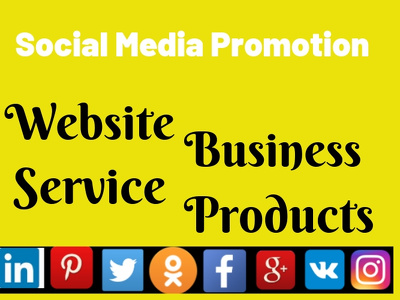 Promote your Business  website  product service on social Media