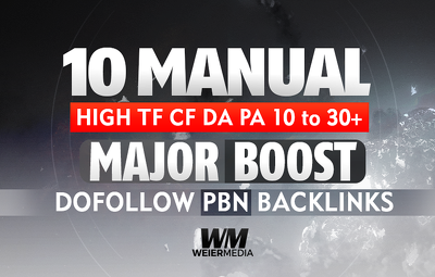 Build 10 Manual HIGH TF CF DA PA 10 To 30+ Dofollow PBN links