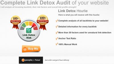 Link detox audit, disavow bad back links, disavow file expert