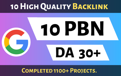 10 Powerful PBN High DA 30+ DOFOLLOW Backlinks