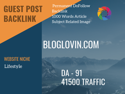 USA Lifestyle Related 41500 Traffic 91 DA Guest post link