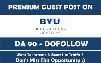 write and Publish Guest Post on Byu.edu DA-90 Dofollow