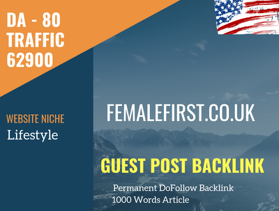 USA Lifestyle Related 62900 Traffic 80 DA Guest post link