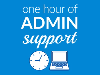 Offer one hour of admin support