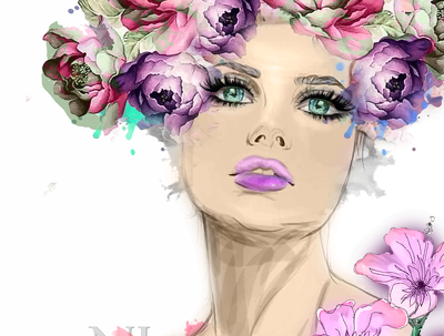 Created Watercolor Sketch And Fashion Illustration