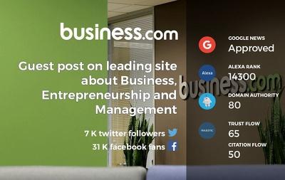 Publish a guest post on business.com PA 84 DA 80