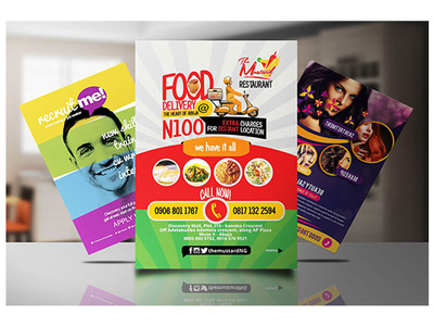 Design Food, Fitness, Business Related Flyers And Brochure