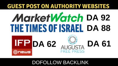 Post on top authority 4 websites