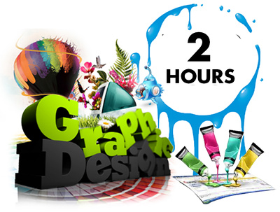 Be your personal graphics designer for TWO HOURS