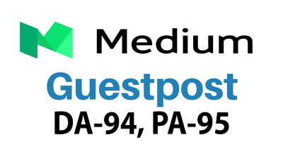 Publish a Guest post on Medium.com with Dofollow Backlinks