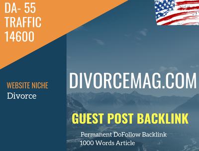USA Divorce  Related 14600 Traffic 55 DA Guest post link