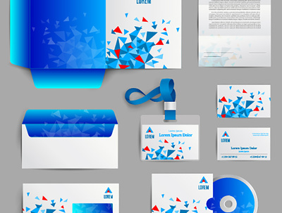 Design eye catching flyer. stationery, business card