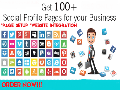 Create Top 100 Social Media Profile, SEO Backlinks