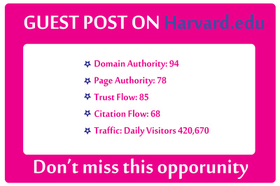 Write And Publish Guest Post On Harvard – Harvard.edu