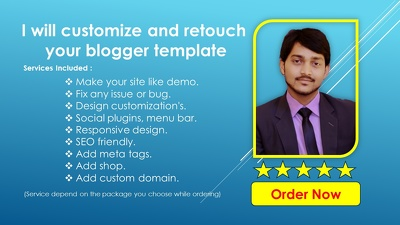Customize and retouch your blogger template