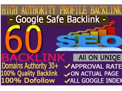 Create 60+ High-Quality Da And Pa SEO Profile Backlinks