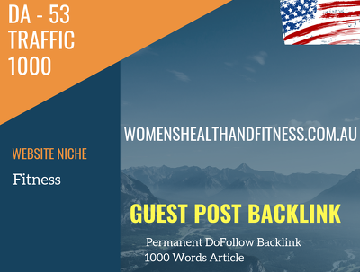 USA Fitness Related 1000 Traffic 53 DA Guest post link