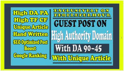 Guest Posting Outreach To Websites Having DA 94 - 50