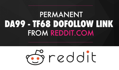 Get You a Permanent DOFOLLOW BackLink On Reddit.com (DA99)