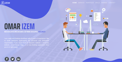 Awesome landing page + lifetime hosting + free domain