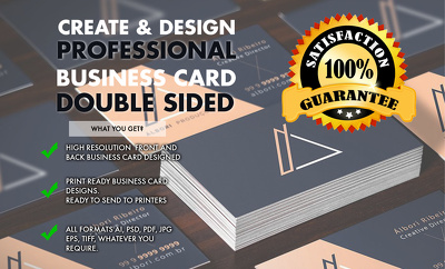 Design a double sided business card UNLIMITED REVISIONS