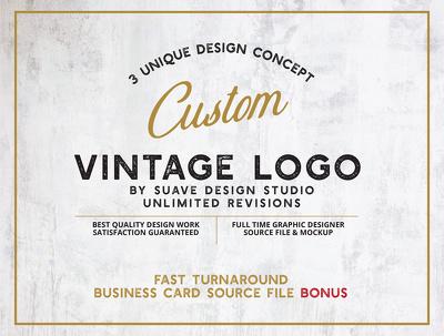 Design unique vintage logo