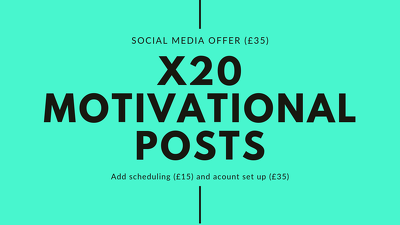 Create 20 motivational social media posts for your business