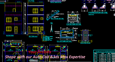 architectural Autocad and 3dsMax design